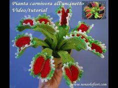 Pianta carnivora all'uncinetto - Carnivorous plant crochet - YouTube