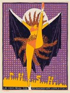 2016 Phish - Las Vegas Silkscreen Concert Poster by Leslie Herman Halloween Run, Halloween Poster, Spirit Halloween, Halloween Themes, Phish Posters, Tour Posters, Concert Posters, Music Posters, Las Vegas