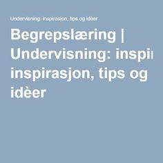 Begrepslæring   Undervisning: inspirasjon, tips og idèer