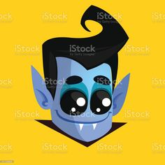 Vampire Face Colored Vector Icon. Halloween dracula head - Векторная графика Вампир роялти-фри Vampire Cartoon, Color Vector, Dracula, Vector Icons, Halloween, Face, Bram Stoker's Dracula, The Face, Faces