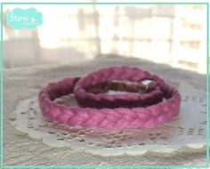 .:storin:. trapilho pink double bracelet - more colours available  (find it at https://www.facebook.com/PequenosTesouros)