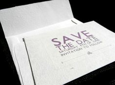 Wedding/Shower Save the Date Cards with Envelope  20 by Pulpa, $70.00