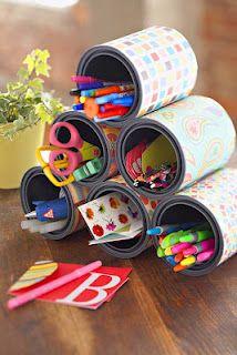 Organizando com latas