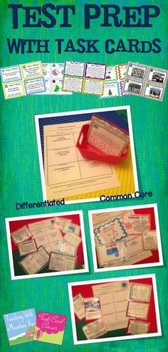 Task Card Corner: Test Prep with Task Cards. I love the concept of this and could easily adapt it for OGT prep.