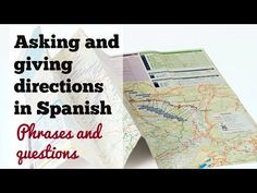 This video covers how to give directions in Spanish and how to ask directions in Spanish using simple questions -- como pedir y dar direcciones. It is an addition to our lesson for places and directions in Spanish. We hope you find it useful :)