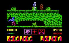 Bionic Ninja for Amstrad CPC (Zeppelin, 1989). Also published on ZX Spectrum and C64. Action / platform game.