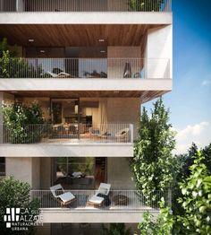 Residential Building Design, Architecture Building Design, Hotel Architecture, Facade Design, Residential Architecture, House Cladding, Facade House, Arch Building, House Design Pictures