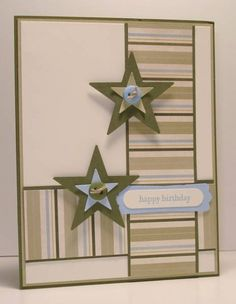 masculine birthday card, or change colors for girlie card