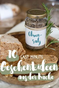 DIY Rosmarin-Zitronen Salz   Selbermachen geschenke, Geschenke aus ...