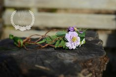 Whimsical flowergirl headpiece perfect for a by vineandmoss, $30.00