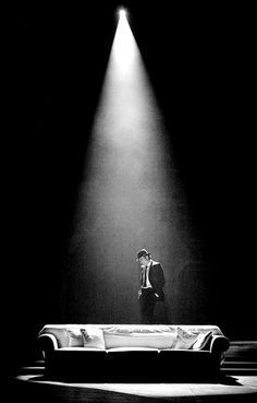 Daniel Day-Lewis stars as Guido Contini in The Weinstein Company's Nine Photo credit by David James. Dramatic Lighting, Stage Lighting, Theatre Design, Stage Design, White Photography, Fine Art Photography, Photography Ideas, The Glass Menagerie, Stage Set