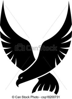 Vector - Swooping falcon bird - stock illustration, royalty free illustrations, stock clip art icon, stock clipart icons, logo, line art, EPS picture, pictures, graphic, graphics, drawing, drawings, vector image, artwork, EPS vector art