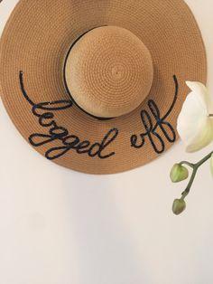Summer hat, straw hat, custom design logged off