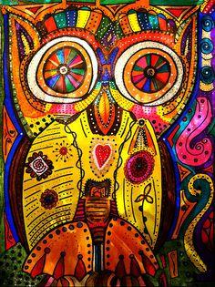 """Big Eyed Owl"" artwork by Marie Jamieson added to FAA."