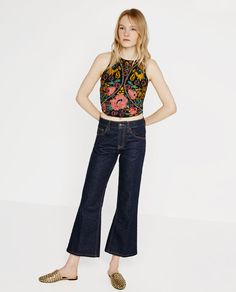 ZARA - WOMAN - EMBROIDERED TOP WITH DIAMANTÉ