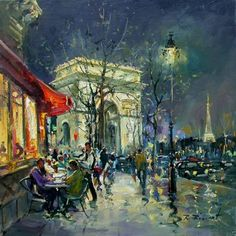 """Arc de Triomphe by Night"" di Robert Ricart."