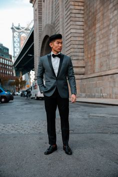 Men's Holiday Style Gray Tuxedo | The Express Slim Gray Flannel Wool-Blend Tuxedo Jacket