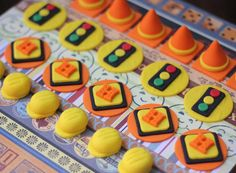 Construction-Themed Fondant Cupcake Toppers - Perfect for Cupcakes, Cookies and Other Edibles on Etsy, $22.99