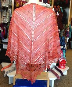 """This pattern is the result of the question we all have when we have that one skein of beautiful yarn and we want the """"perfect"""" project to show it off. I have wanted to knit the Holden Shawl for a couple of years now so using it for inspiration the Sunset Shawl came about."""