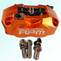 44.19$  Buy now - http://aliocm.worldwells.pw/go.php?t=32698192694 - Motorcycle modification electric motorcycle four piston brake calipers pump RPM 200 220 for WISP RSZ Turtle King small radiation 44.19$