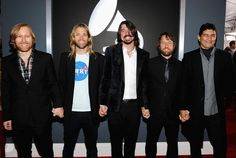 Foo Fighters at the 54th Annual GRAMMY Awards held at Staples Center on February 12, 2012 in Los Angeles (Photo by Larry Busacca)