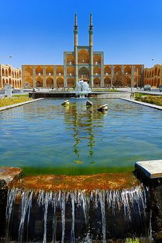 ✮ The Amir Chakmak Mosque in Yazd - Iran // Yazd Province is called  centre of Zoroastrian culture