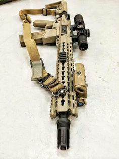 Seekins precision AR with Leupold 1-4x optic, Keymod rail, Blueforce gear sling, IR laser, Mission First Tactical Battle Link stock and grip, and Lance FDE mag.
