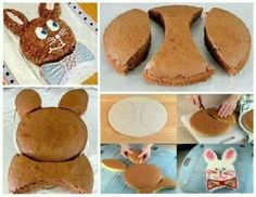 Easter bunny cake DIY! My Grandma H. used to make this cake for Easter!