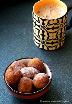 Eggless Pampoen Koekies - Famous South African dessert made with Pumpkin puree. These fritters are mildly sweetened and can be served with powdered sugar. South African Desserts, South African Dishes, South African Recipes, Carribean Food, Caribbean Recipes, Easy Desserts, Dessert Recipes, Vegan Desserts, Vegan Food
