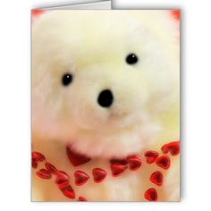 Bear Hearts and Love for Valentine's Day Greeting Card