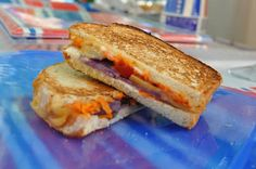 4th of July grilled cheese sandwiches