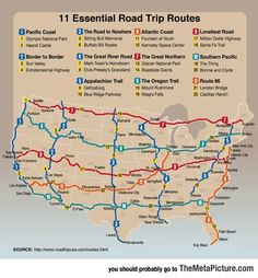 Funny Pictures Must Do Road Trips In The Us Summer