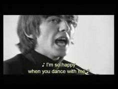 The Beatles - I'm Happy Just to Dance With You lyrics - YouTube
