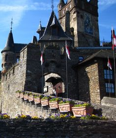Cochem Castle Germany.this was such a neat looking castle/town, saw a hilarious polka concert, and since it was too late to tour the castle, Matt and I spent a lot of time in front of this arch. lol on a cannon.