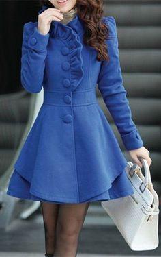 ruffled coat