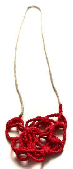 Ela Bauer  Necklace: Untitled 2009  Cotton, copper - net