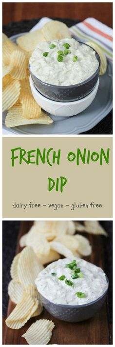 Vegan French Onion Dip w/ Dill - two of my favorite dips combined and made with all real whole food plant based ingredients. There are 2 whole onions in there - you won't find that in the processed store bought version! Grab some chips, raw veggies or cra