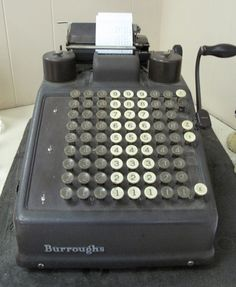 "Adding Machine in my grandparents basement...used to fight with my cousins about who would be the ""cashier"" when we visited them."