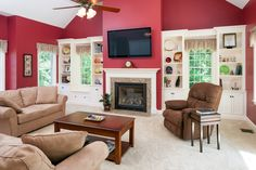 images of family rooms | Family room addition in Groton, MA featuring vaulted ceiling and ...