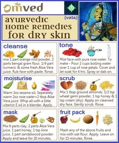VATA SKIN - NATURAL REMEDIES - Using herbs, flowers, essential oils and naturally occurring minerals, Ayurvedic remedies bring the skin to its own perfect balance. Here are some home remedies for dry skin. Do you have any to add? Be Balanced. Be Natural. Be You. - Omved