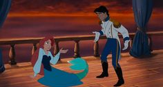 The many faces of Prince Eric. The Little Mermaid, sassy Prince Eric. First you were mute and now this?!