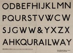E Johnston, Railway font for London Underground, 1916