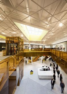 10 Must-See Yellow-Colored Architecture- Emporia Shopping Center Shopping Mall Interior, Retail Interior, Retail Architecture, Commercial Architecture, Architecture Collage, Mall Design, Retail Design, Commercial Design, Commercial Interiors