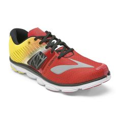 Brooks Men's PureCadence 4 True Red/Blazing Yellow/Black Sneaker D (M) - discount simple Running Sneakers, Running Shoes For Men, Running Women, Fleet Feet Sports, Walking Club, Sports Footwear, Charles River, Yellow Black, Blue