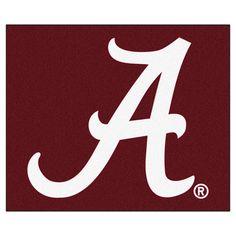 """Alabama Crimson Tide """"""""A"""""""" 5' X 6' Tailgater Area Rug Floor Mat"""