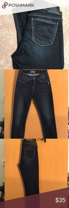 Jeans Silver jeans : Style: Stevie.  Size W 26/L 31 dark wash. Only worn a couple times. Like new excellent condition... Silver Jeans Jeans Skinny