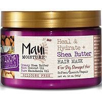Creamy shea butter is whipped into this hydrating deep conditioning Maui Moisture Heal & Hydrate + Shea Butter Hair Mask along with rich coconut and macadamia oils to help deeply quench, nourish and soften to get hair back to looking healthy. Aloe Vera, Curly Hair Treatment, Hair Treatments, Natural Treatments, Maui Moisture, Hair Mask For Damaged Hair, Hair Masks, Best Hair Mask, Coconut Oil Hair Mask