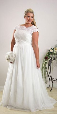 18 Plus-Size Wedding Dresses: A Jaw-Dropping Guide ❤ See more: http://www.weddingforward.com/plus-size-wedding-dresses/ #weddings #dresses