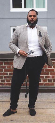 d6109aea5f 15 Perfect Fat Men Outfit Ideas To Dress Sharp. Men s Semi FormalSemi ...