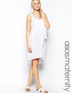ASOS Maternity Exclusive Swing Dress In Cheesecloth